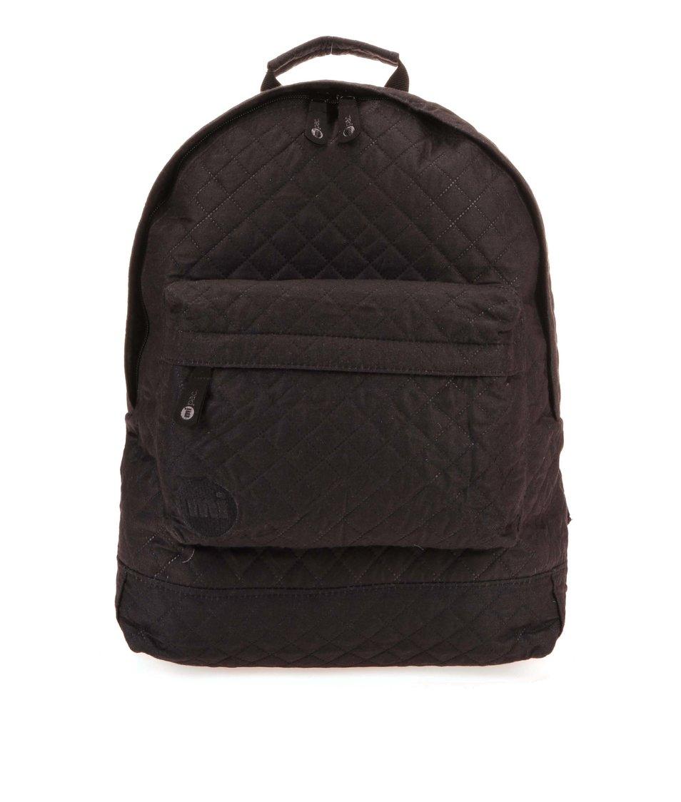 Černý prošívaný unisex batoh Mi-Pac Quilted