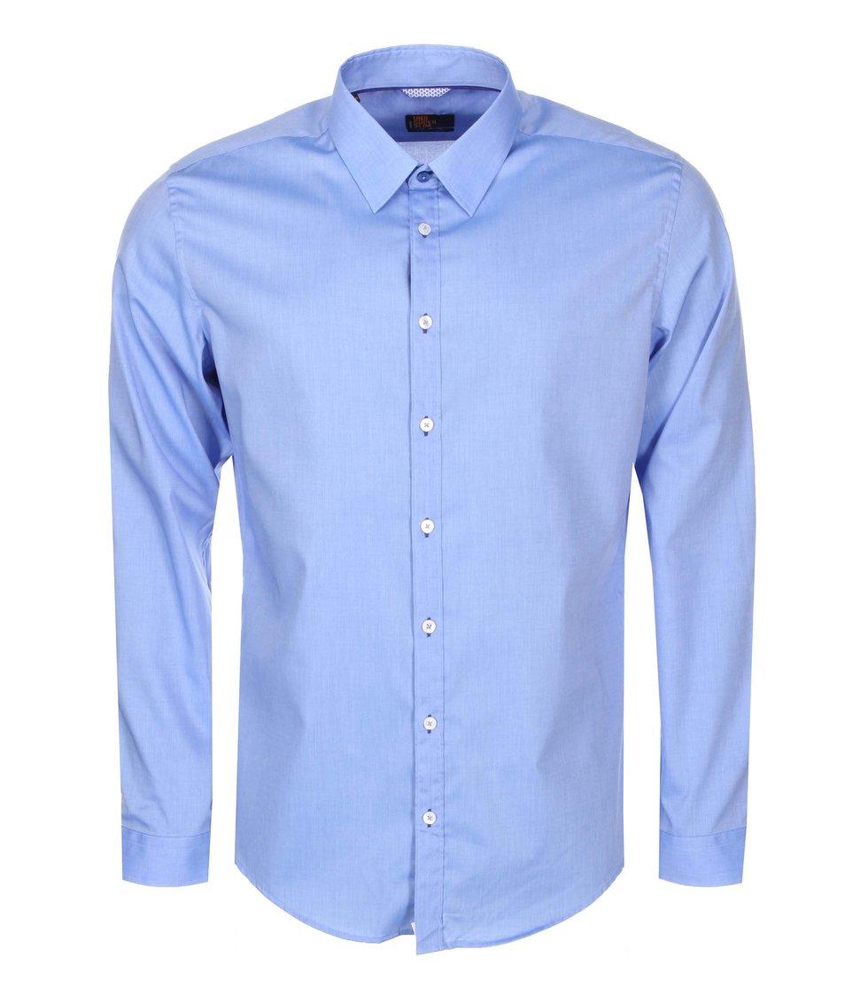 Modrá košile Seidensticker Kent Piping City Super Slim Fit