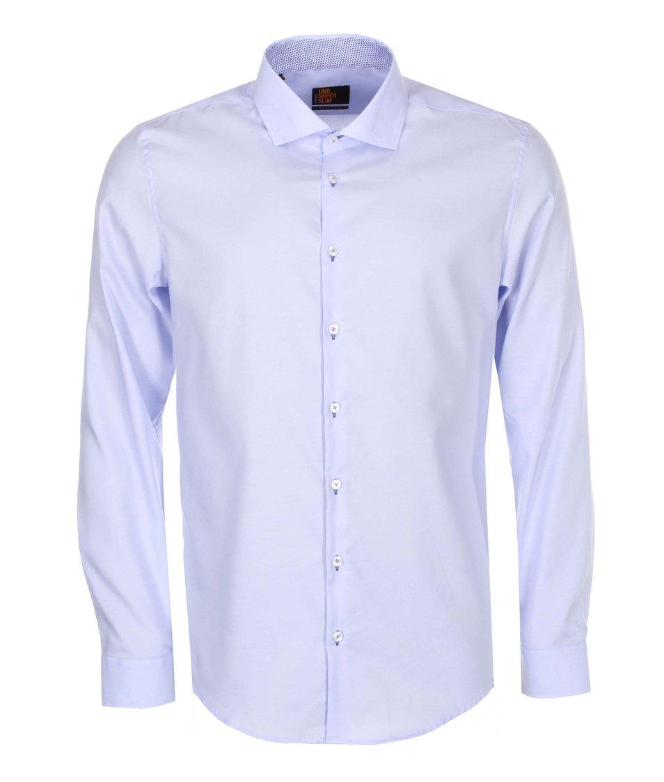 Světle modrá košile Seidensticker Shark Palch City Super Slim Fit