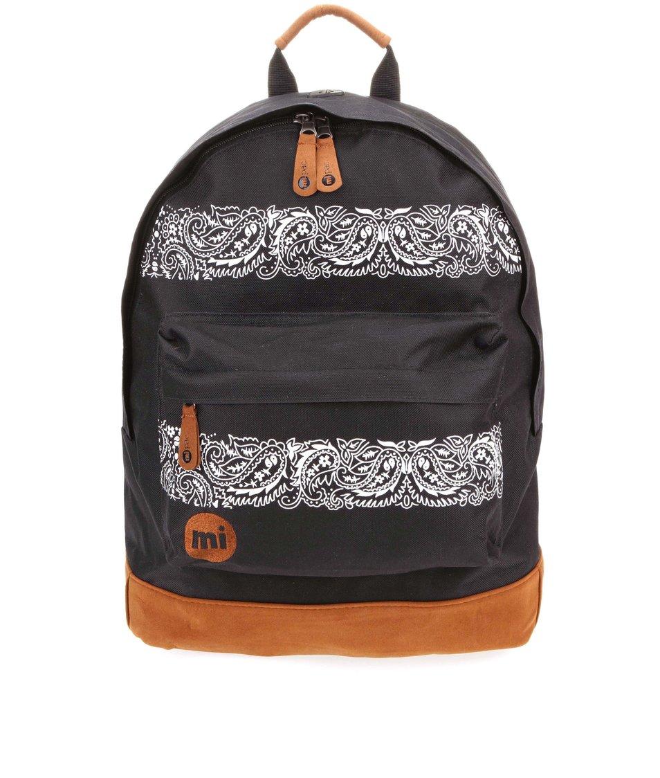Hnědo-černý unisex batoh s kašmírovým vzorem Mi-Pac Bandana
