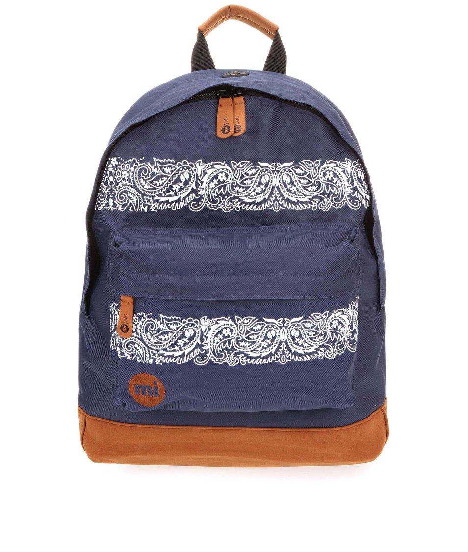 Hnědo-modrý unisex batoh s kašmírovým vzorem Mi-Pac Bandana