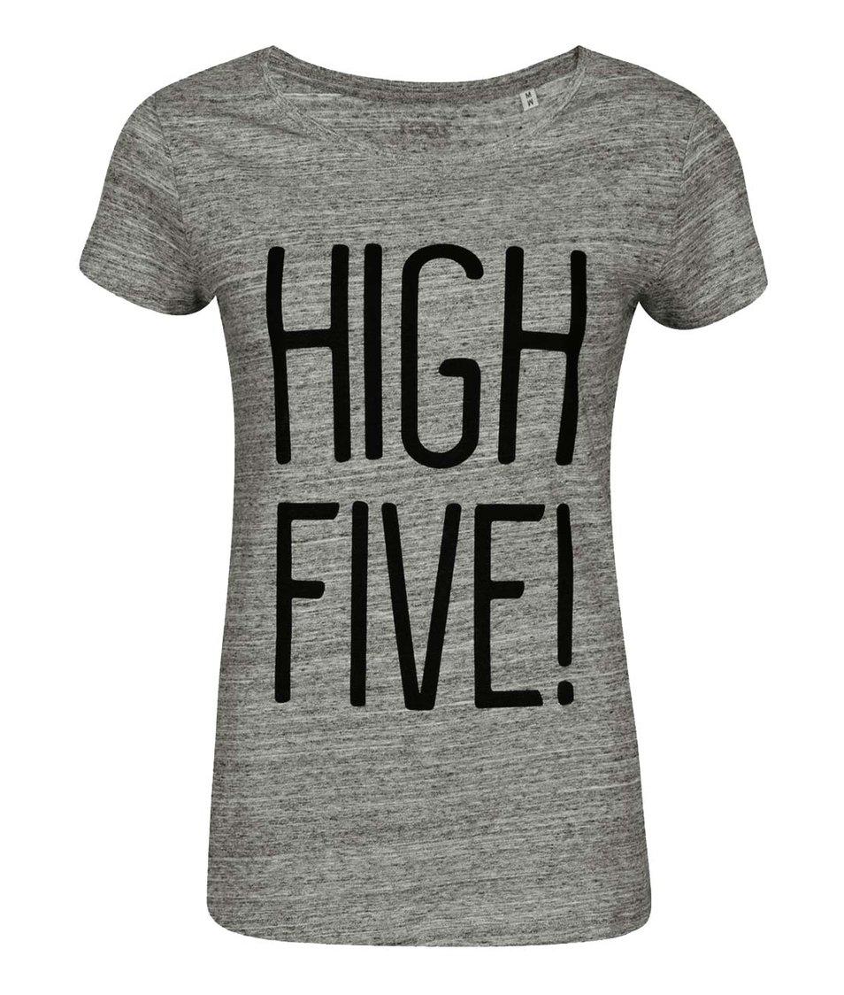 Šedé dámské žíhané tričko ZOOT Originál High Five