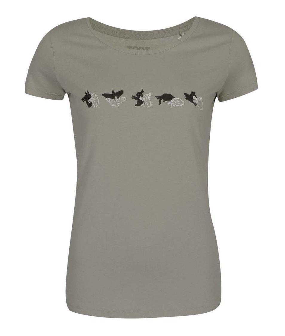 Šedé dámské tričko ZOOT Originál Stínohra