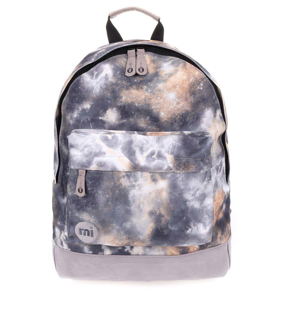 Šedý unisex batoh s vesmírným potiskem Mi-Pac Galaxy
