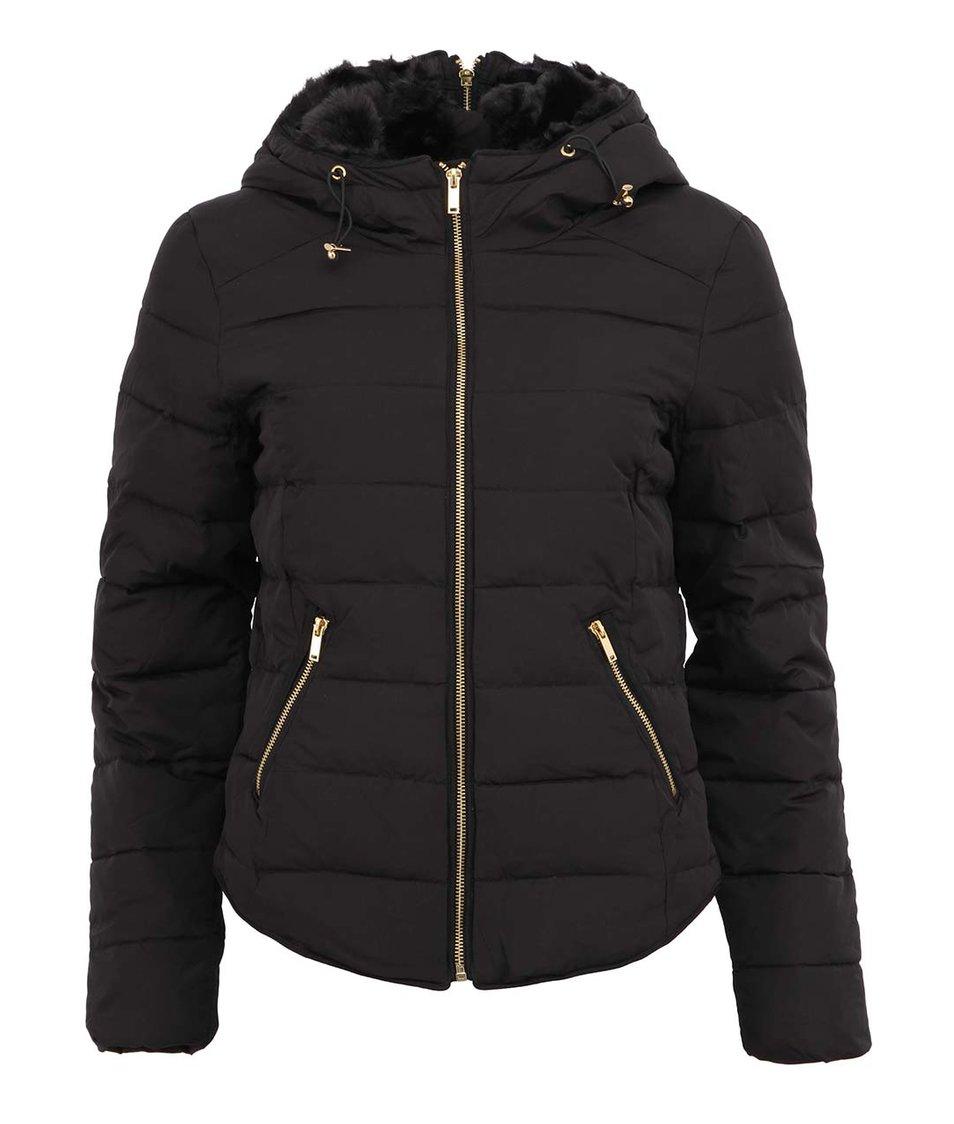 Černá péřová prošívaná bunda Vero Moda Short