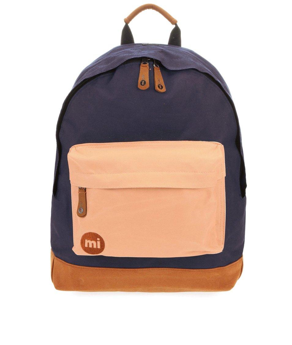 Tmavě modrý batoh s béžovou kapsou Mi-Pac Tonal