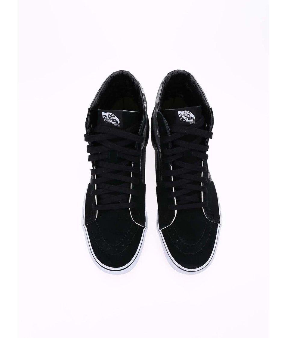 Šedo-černé pánské kotníkové tenisky Vans SK8-Hi