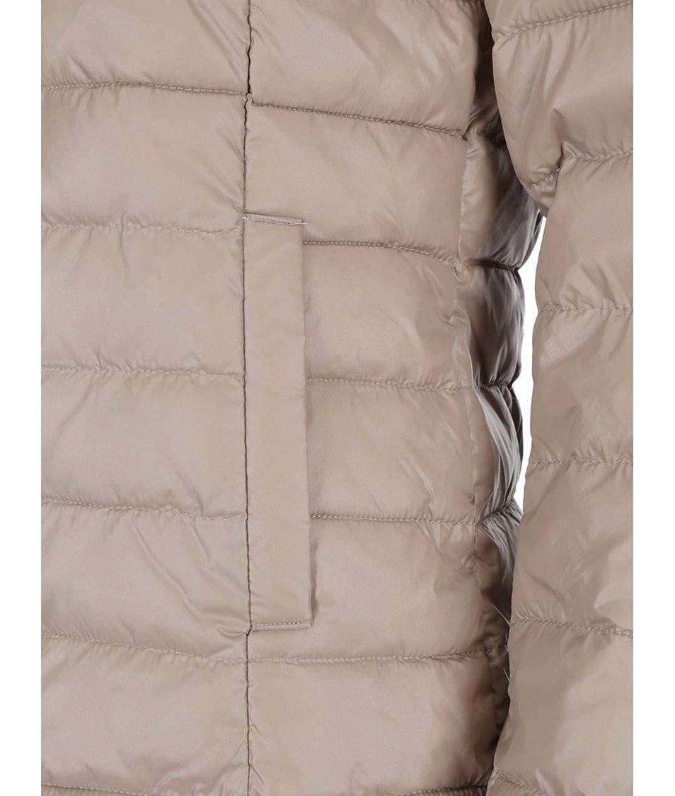 Světle hnědá lehká prošívaná bunda ONLY Tahoe Nylon