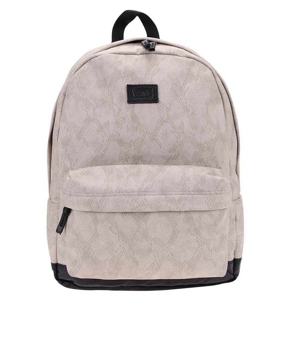 Světle šedý batoh se vzorem hadí kůže Vans Cameo