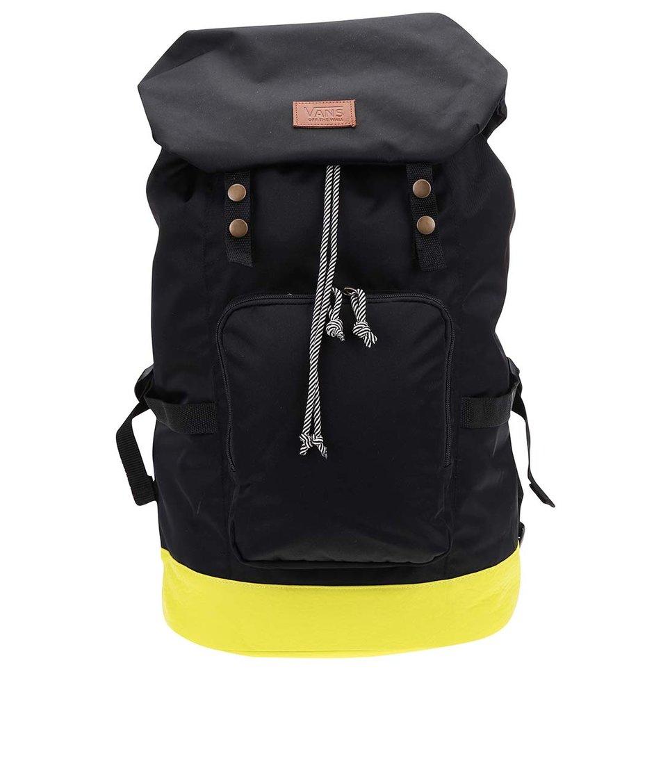 Žluto-černý velký batoh Vans Hillburn