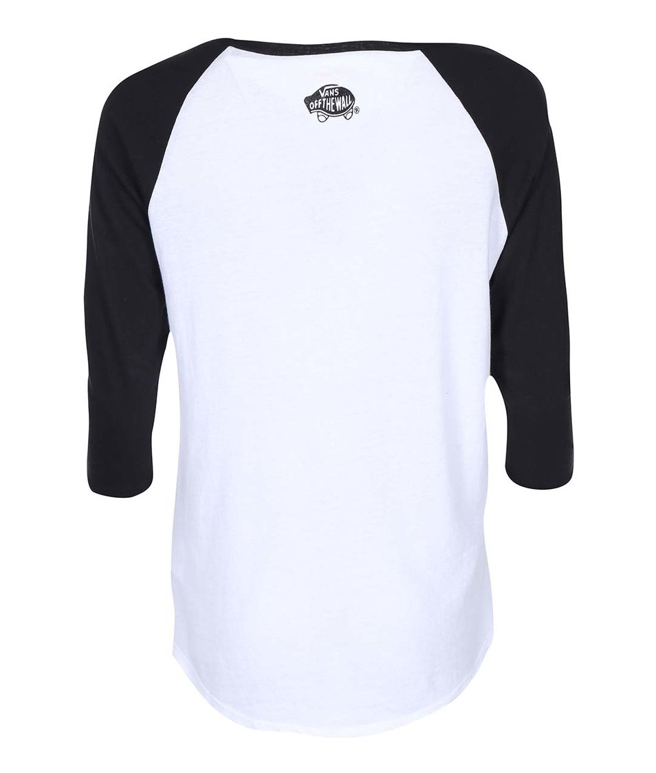 Černo-bílé dámské tričko s 3/4 rukávem s Ariel Vans Disney Ariel
