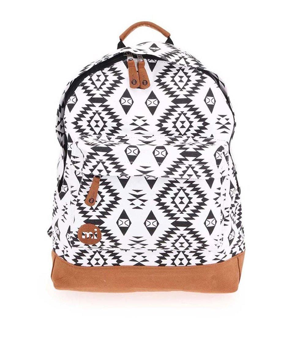 Černo-bílý batoh se vzorem Mi-Pac Premium Native