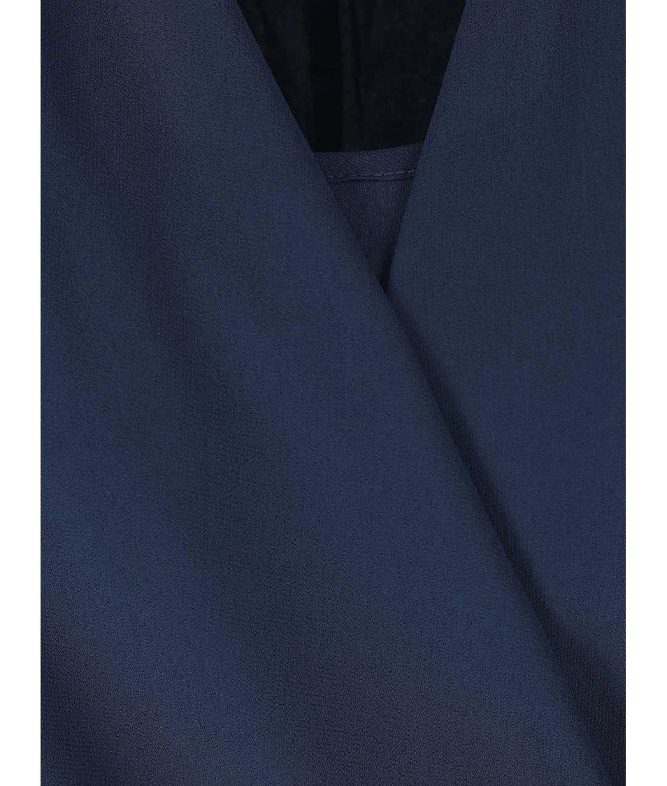 Tmavě modrá halenka s dlouhým rukávem VILA Sandrine