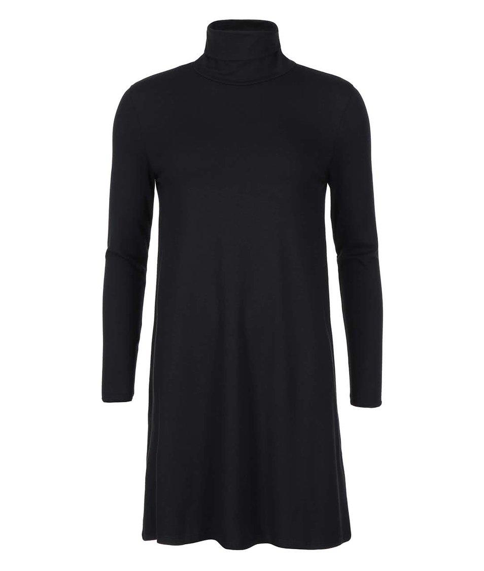 Černé šaty s rolákem VILA Officiel