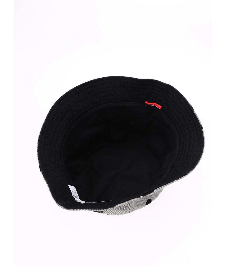 Šedý/černý oboustranný klobouk Icon Brand Dot Matrix