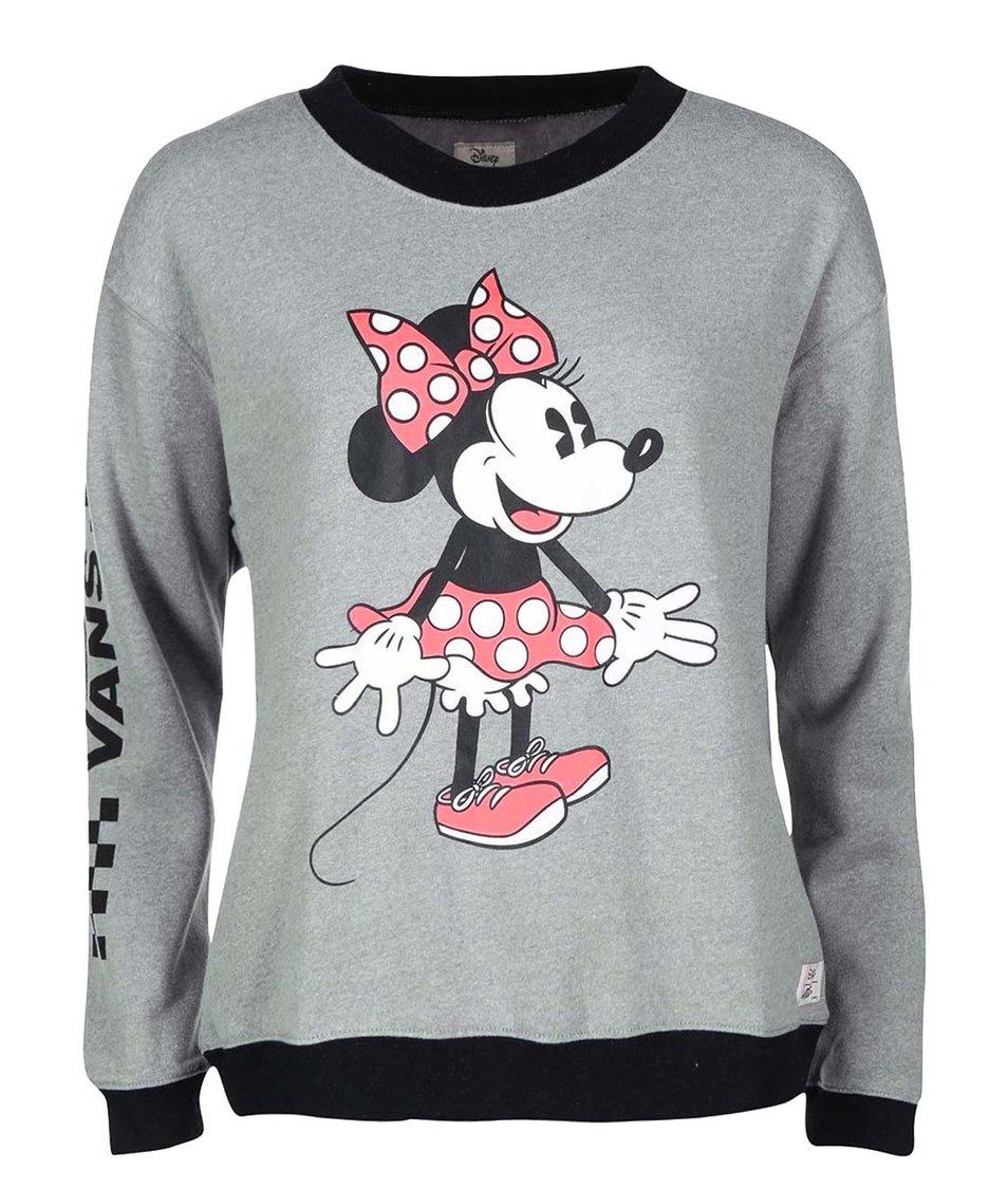 Šedá dámská mikina s potiskem Minnie Vans Disney Minnie