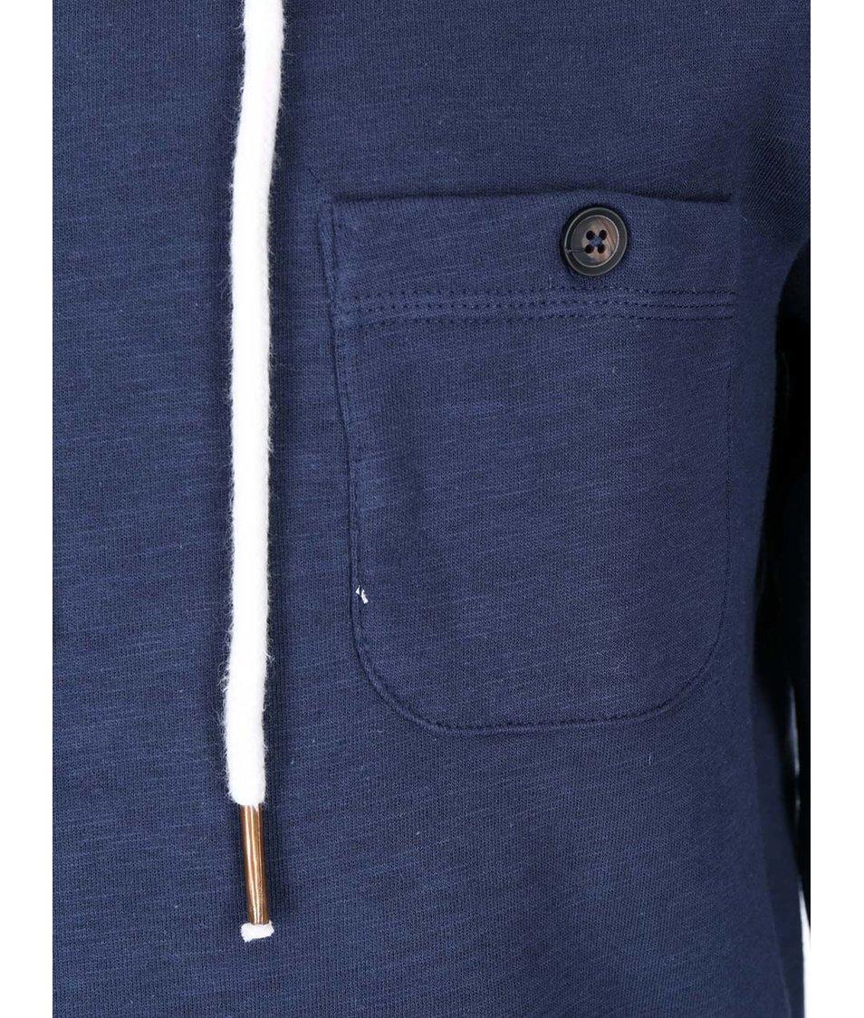 Modrá mikina s vysokým límcem ONLY & SONS Slick