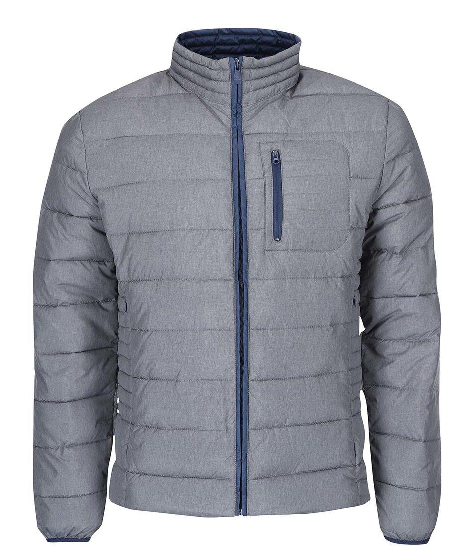 Modro-šedá prošívaná bunda ONLY & SONS Theo
