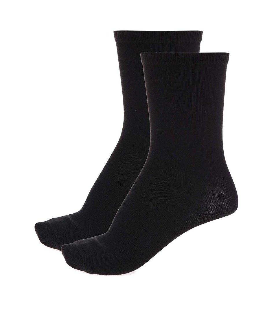 Sada čtyř párů černých ponožek  Pieces Emmy