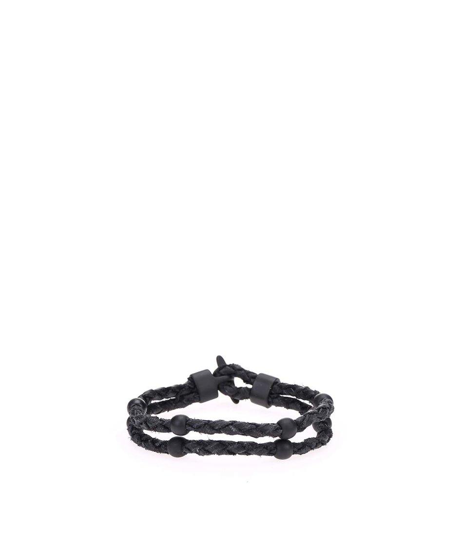 Černý náramek Icon Brand Dolla $ign