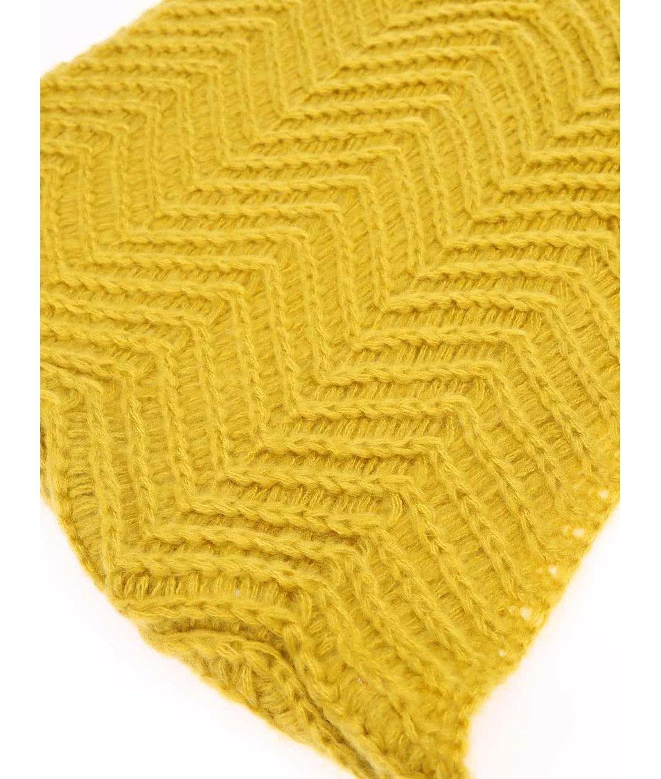 Žlutá dutá šála Pieces Rixi