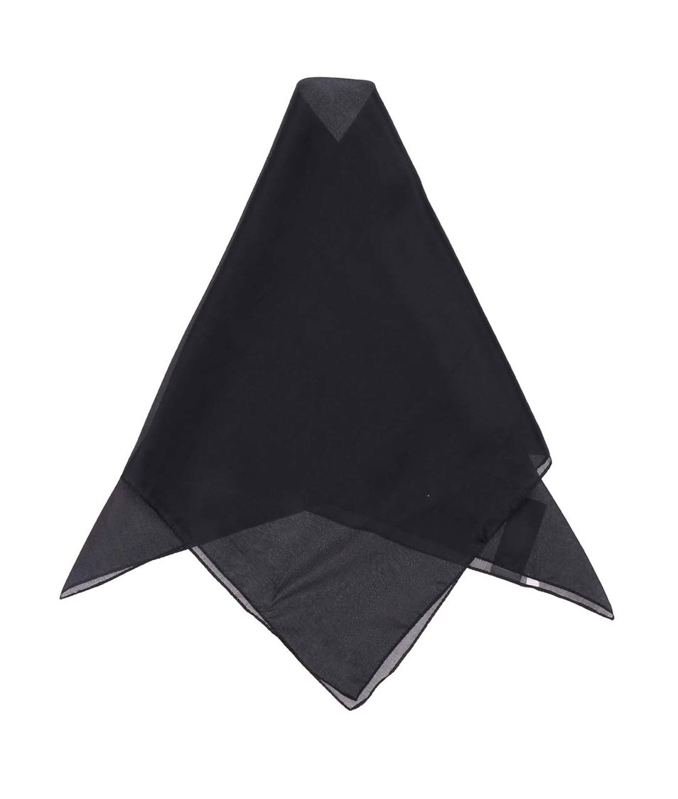 Černý hedvábný šátek Pieces Elli
