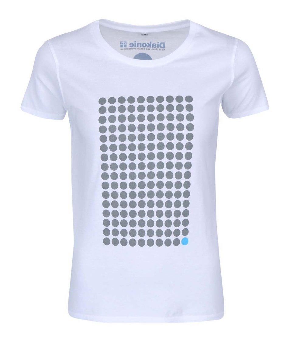 """""""Dobré"""" bílé dámské tričko Diakonie Tečky"""