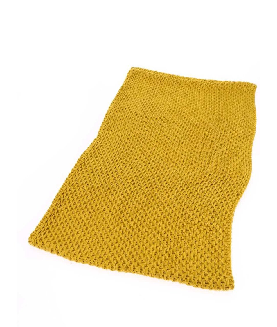 Tmavě žlutá dutá šála Pieces Mansi