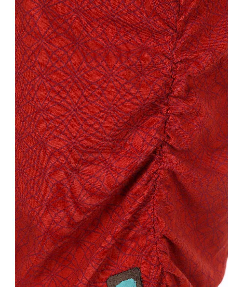 Červené vzorované šaty Tranquillo Crystal