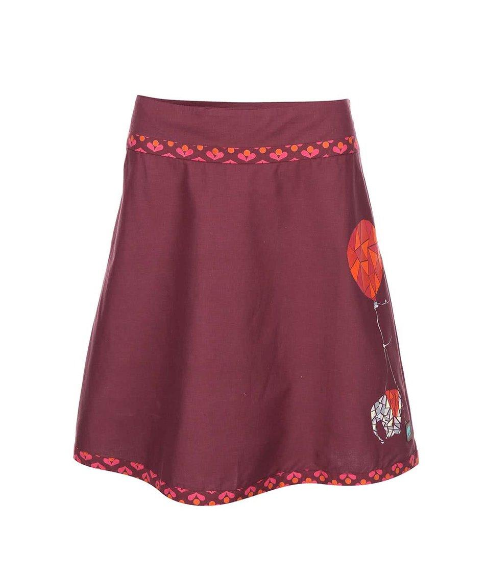 Vínová sukně s potiskem Tranquillo Alekto