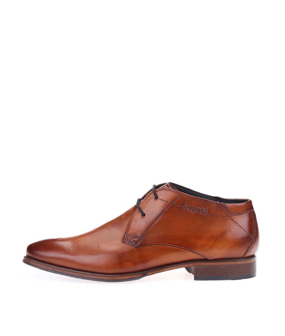 44d4794cf55 Hnědé pánské kožené kotníkové boty bugatti Lopoldo - Akční cena ...