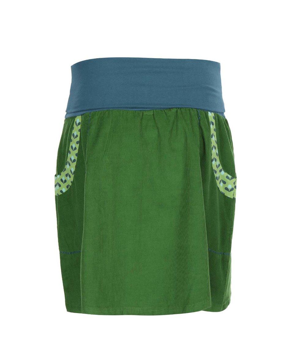 Zelená sukně s kapsami Tranquillo Isolde