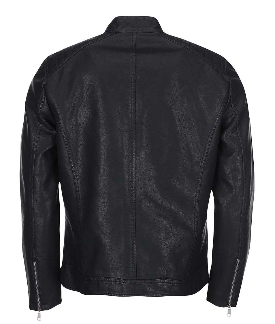 Černá pánská koženková bunda ONLY & SONS Soren