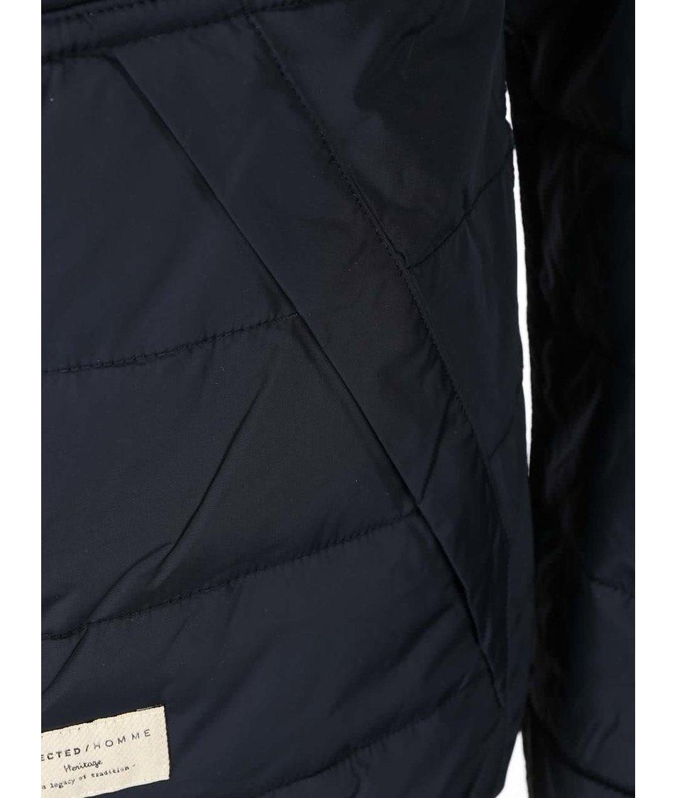 Červeno-modrá oboustranná bunda s kapucí Selected Halifax