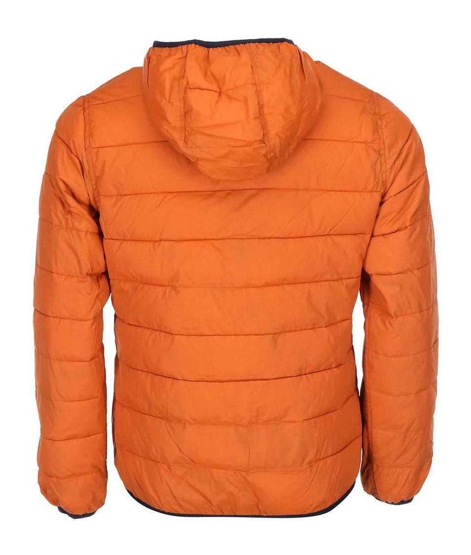 Oranžovo-zelená oboustranná bunda s kapucí Selected Halifax