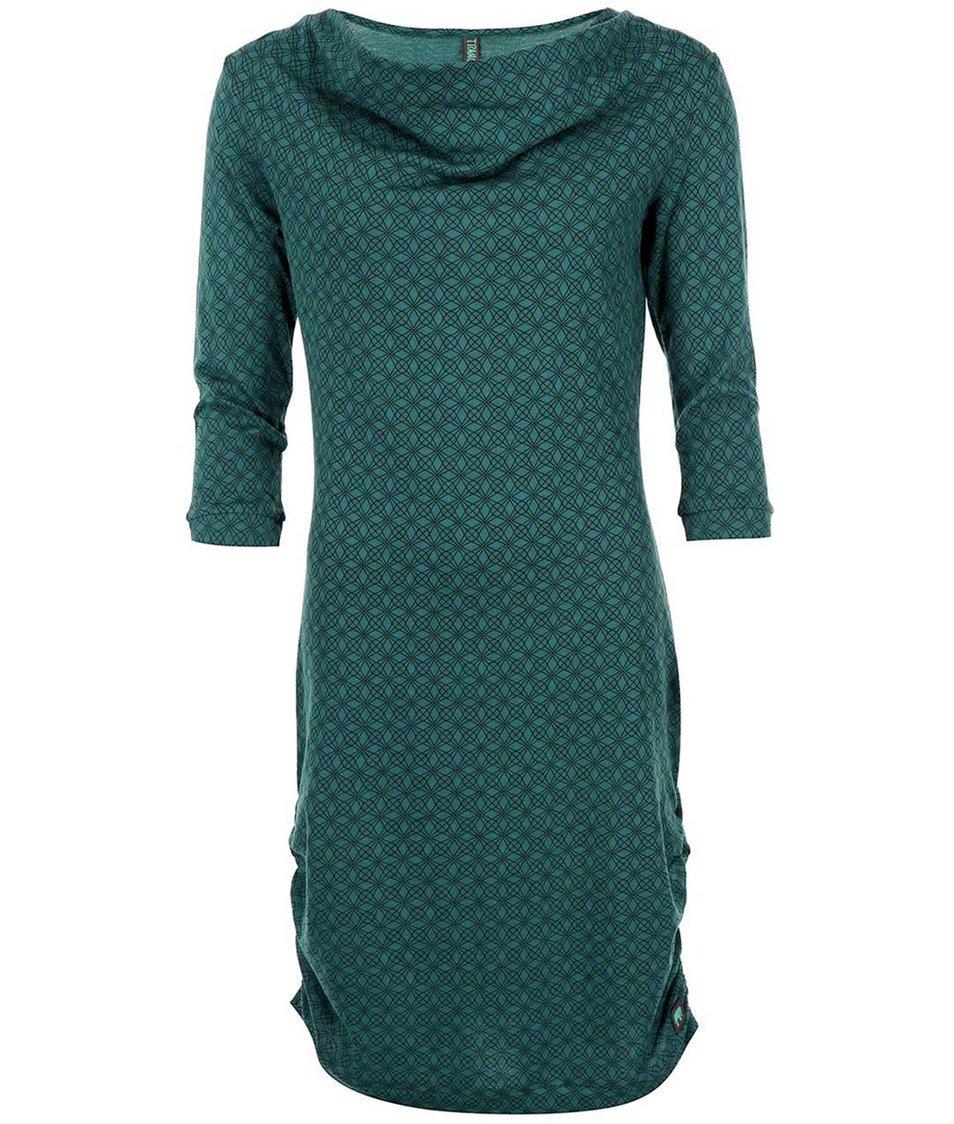 Tmavě zelené vzorované šaty Tranquillo Crystal