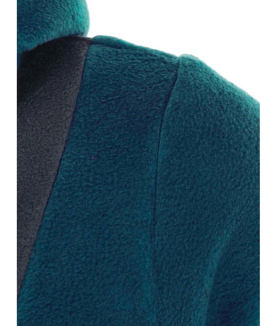 Šedo-modrá fleecová mikina Tranquillo Liana