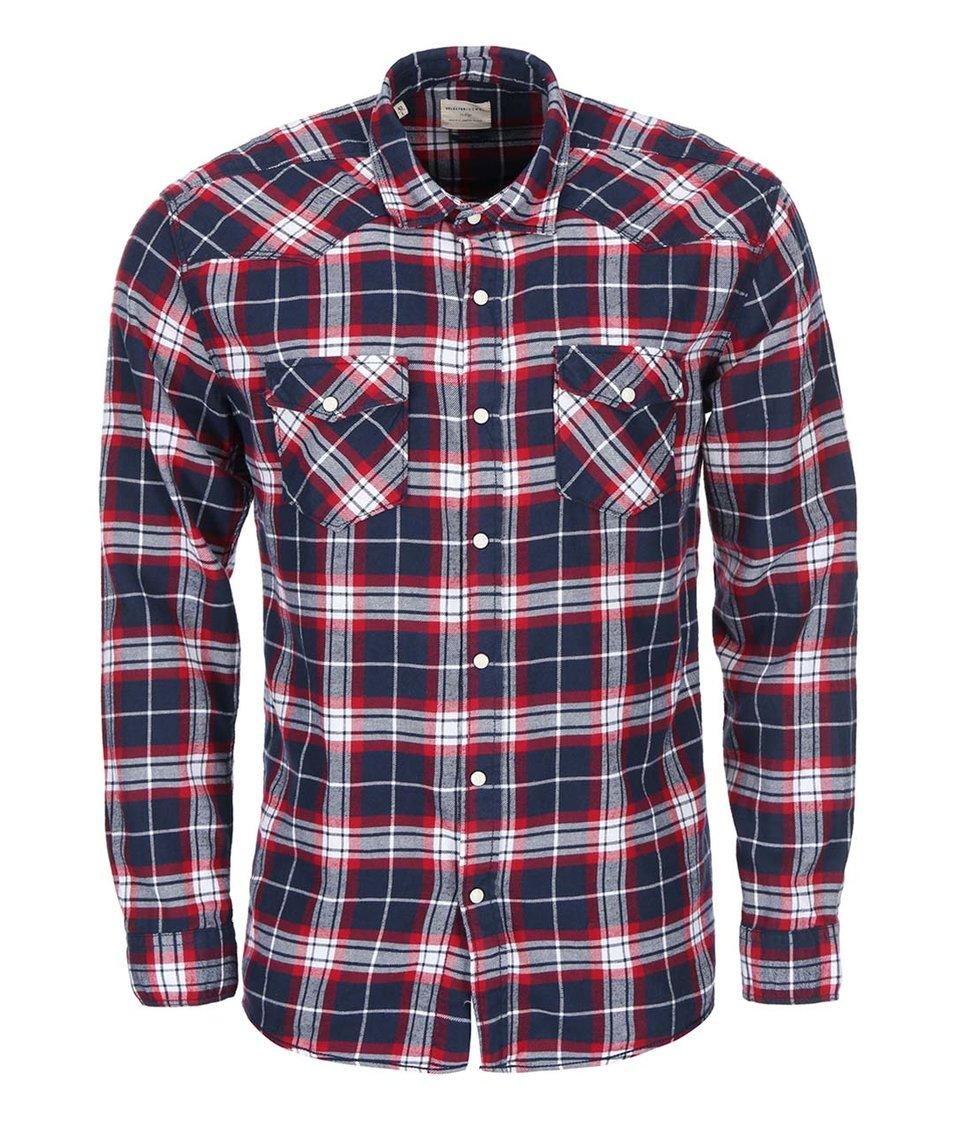 Červeno-modrá károvaná košile Selected Ashwin