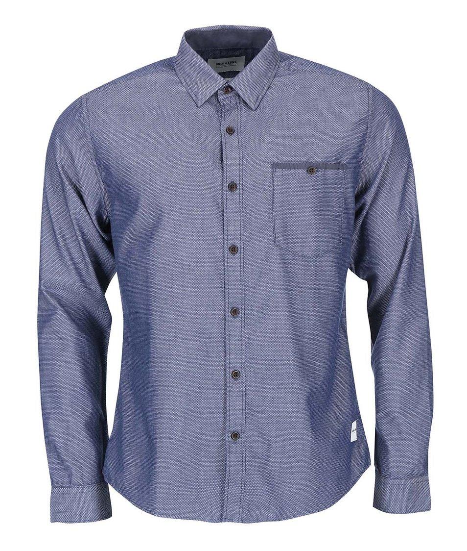 Modrá pánská košile ONLY & SONS Miango