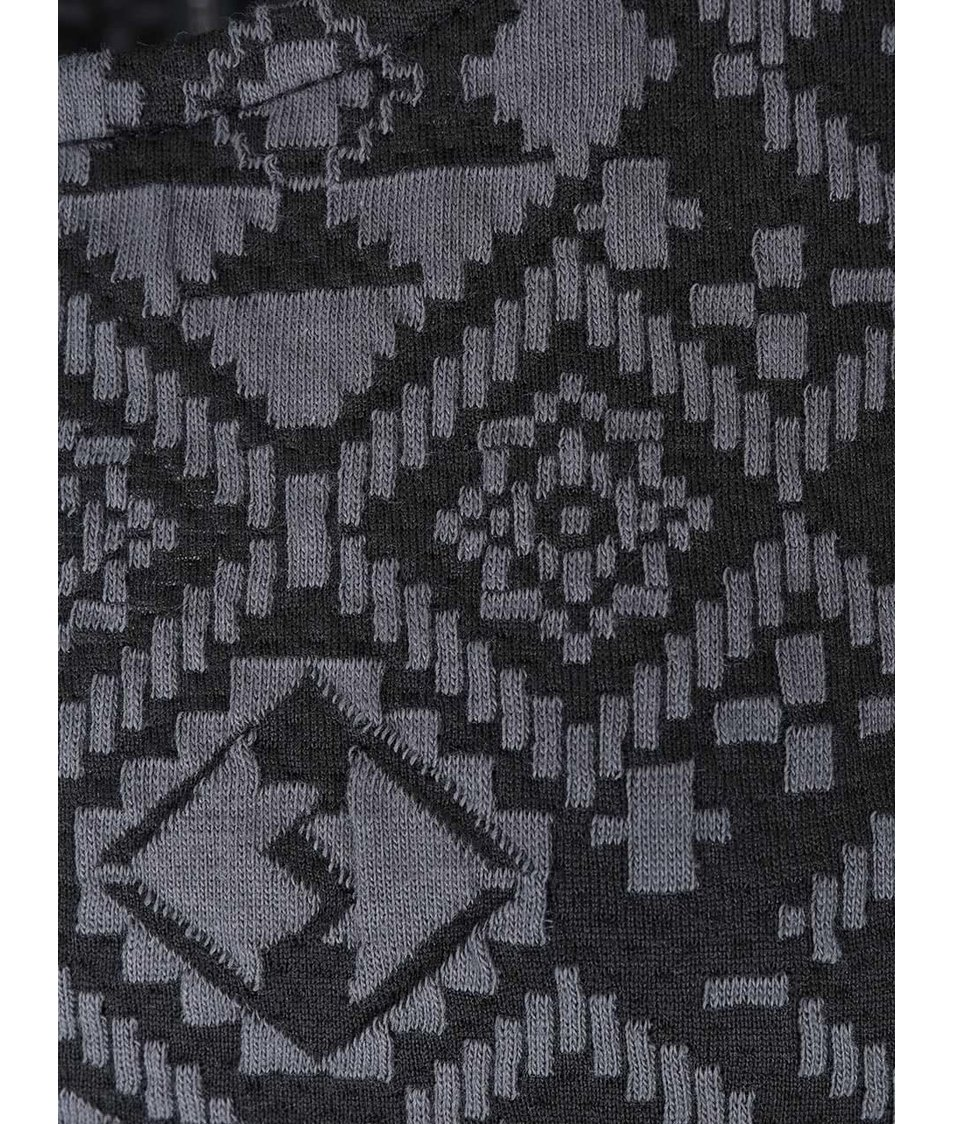 Černo-šedé šaty se žakárovým vzorem ONLY Charlot