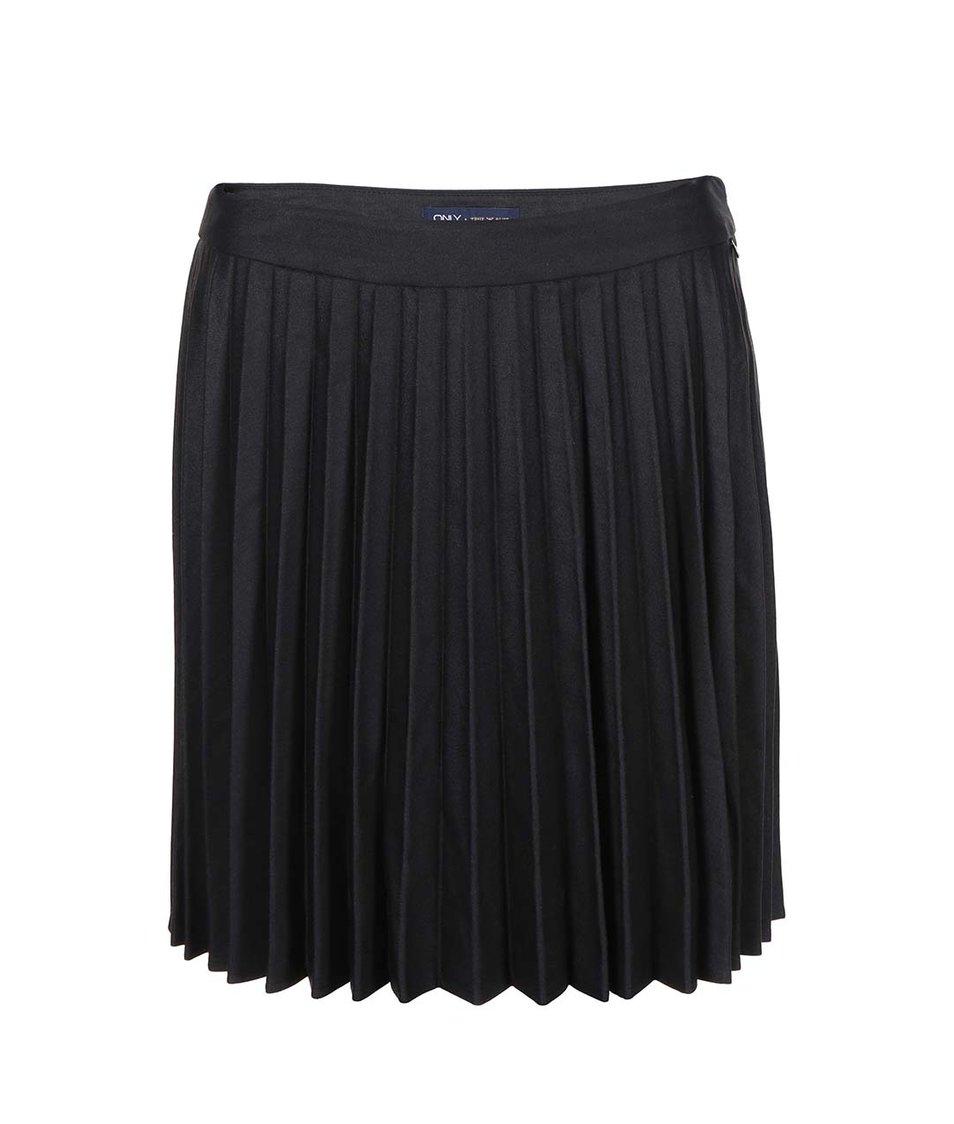 Černá skládaná sukně ONLY Pesca