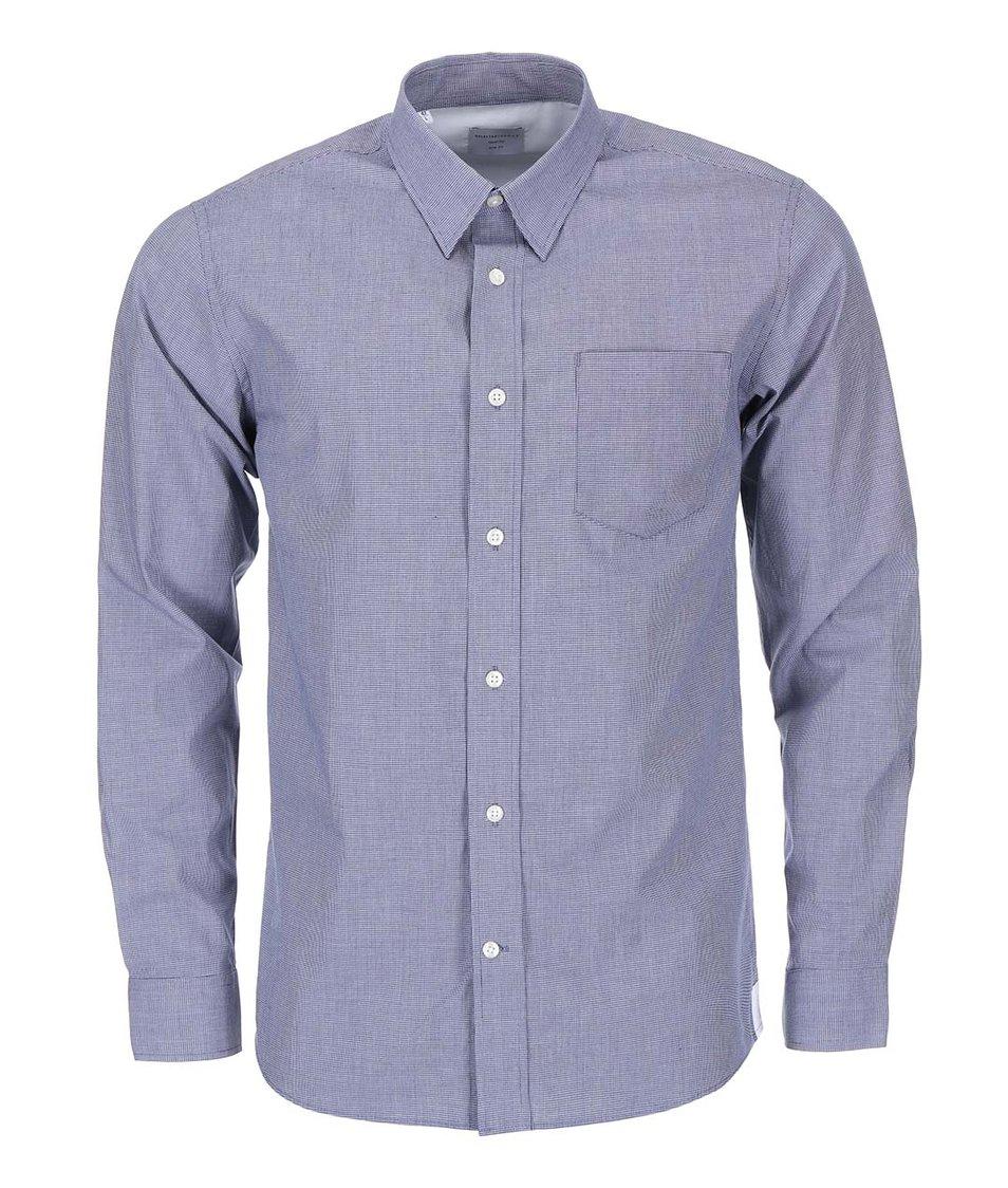 Modrá kostkovaná košile Selected Caleb