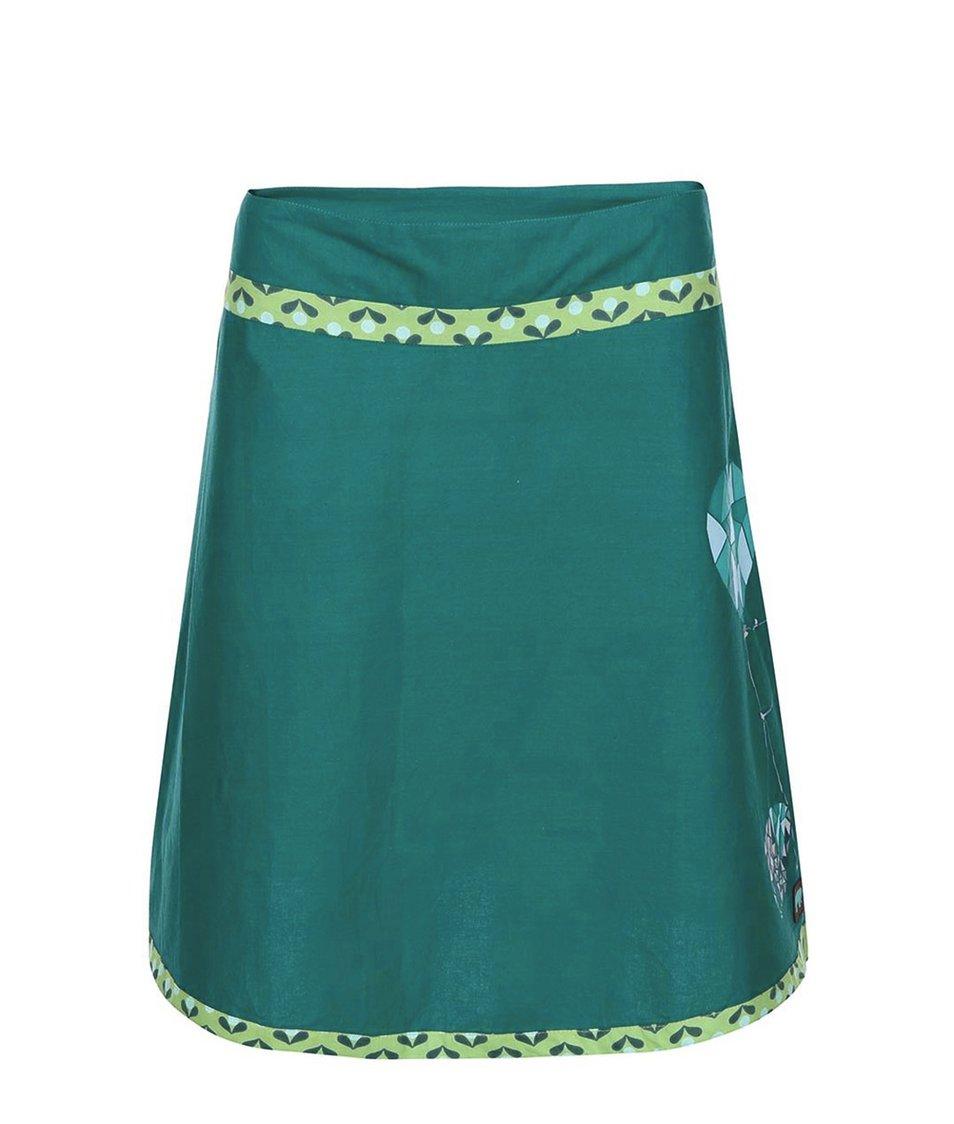 Tyrkysová sukně s potiskem Tranquillo Alekto