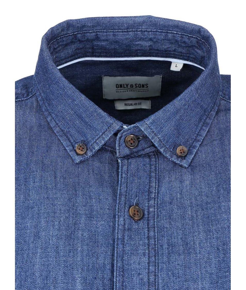 Modrá džínová košile ONLY & SONS Tico