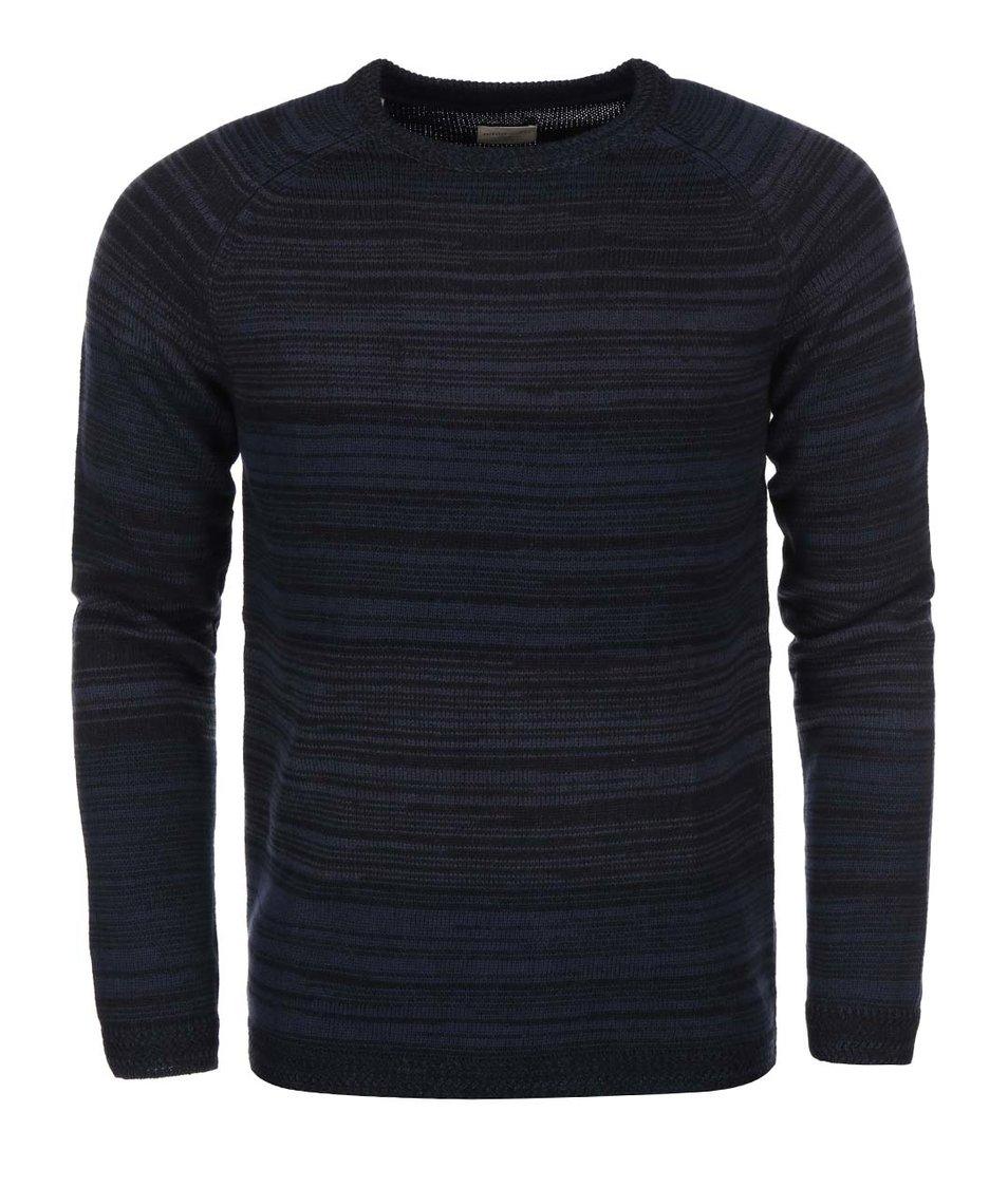Tmavě modrý žíhaný svetr Selected Beat