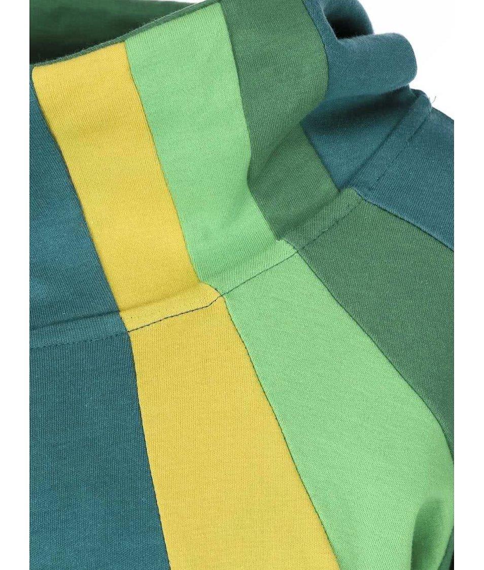 Tyrkysová mikina s barevnými pruhy Tranquillo Walhalla