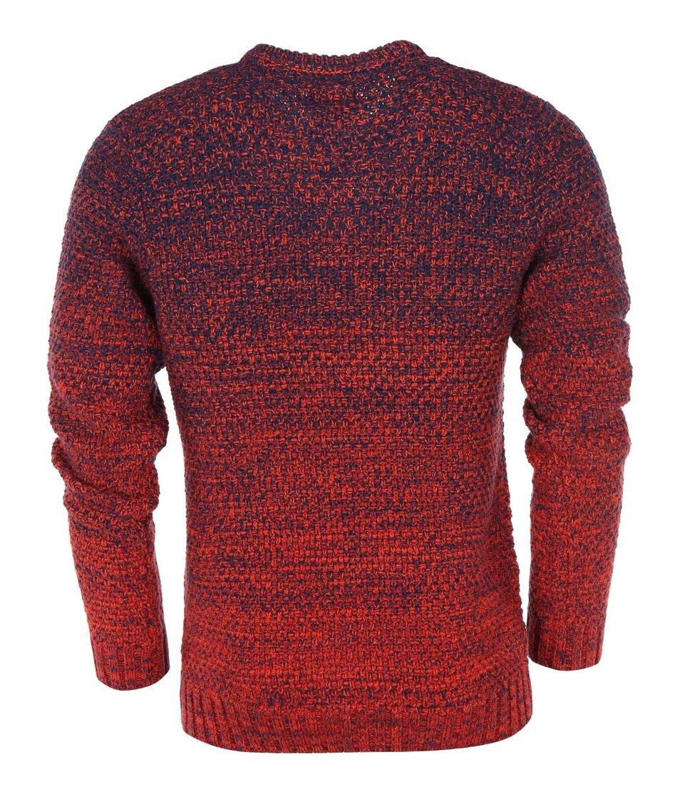Modro-červený svetr Blend