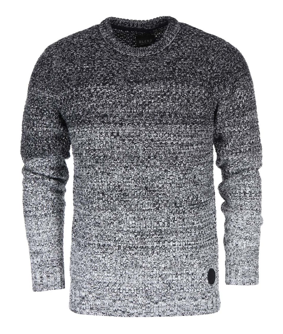 Černo-šedý svetr Blend