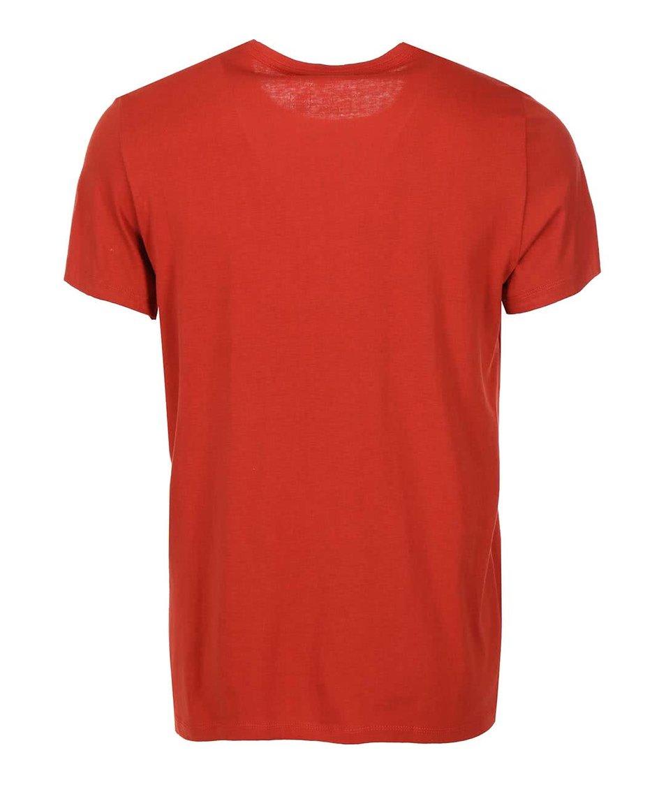 Červené triko s potiskem Blend