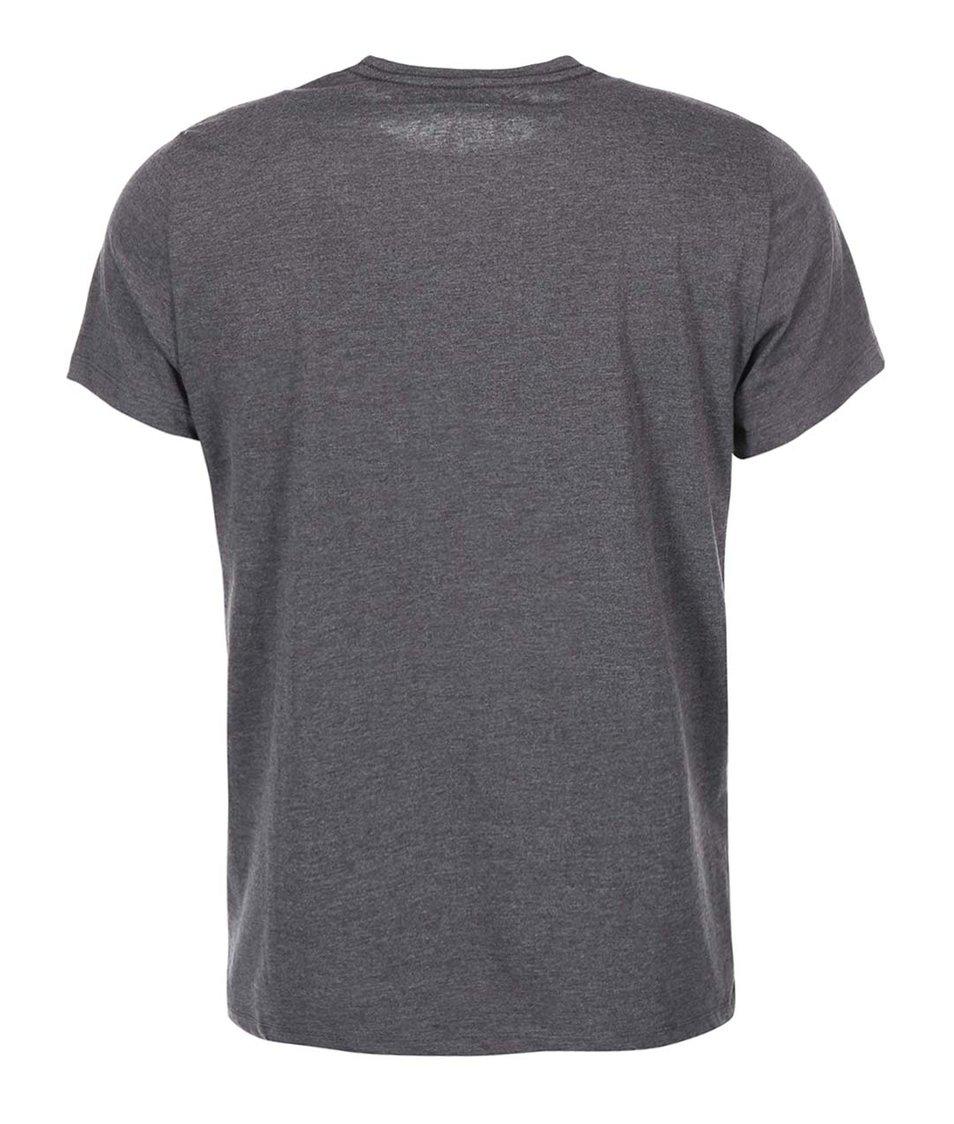 Tmavě šedé triko s potiskem Blend